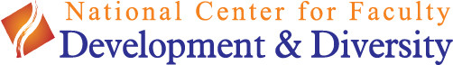 Logo image for the National Center for Faculty Development & Diversity
